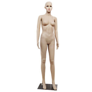 New Female Full Body Realistic Mannequin Display Head Turns Dress Form W base