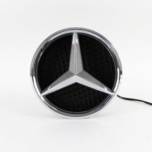 Auto Illuminated Led Light Front Grille Star Emblem Badge For Mercedes Benz Car