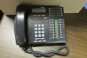 Nortel T7316e Charcoal Phone nt8b27jaaa Used Free Shipping