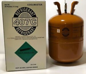 R407c Refrigerant 25 Lb Cylinder R 407c Factory Sealed R22 Replacement