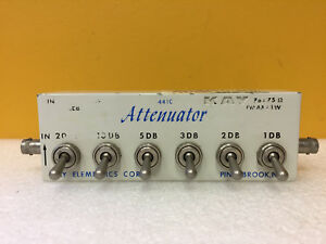 Kay 441 Dc To 1 Ghz 0 To 41 Db 75 Ohm 1 W Bnc f In line Attenuator Tested