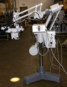 Contraves Carl Zeiss Opmi Traeger Surgical Upright Microscope Binocular Stand