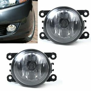 Pair Left Right Side Fog Light For Subaru Wrx Legacy Nissan Frontier Armada Ford