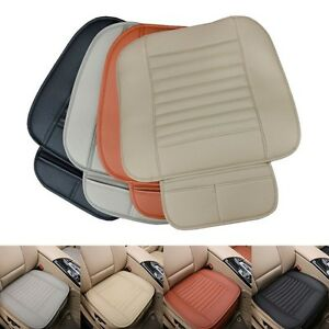 Breathable Pu Leather Bamboo Car Seat Cover Pad Mat Cushion Driver Left Right Us
