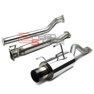 Integra Base Rsx Dc5 K20 2 5 Inlet Exhaust Piping Catback 4 Burnt Titanium Tip