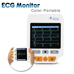 Heal Force 180d Color Handheld Portable Ecg Ekg Heart Monitor Sensor Electrode