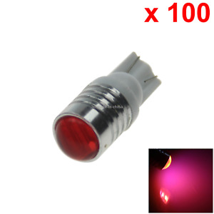 100x Red Car T10 W5w Generation Bulb Interior Light 3 7020 Smd Led Z20126