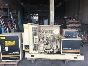 Kohler 30kw Natural Gas Generator Fast Response Ii With Transfer Switch Ford 4 2