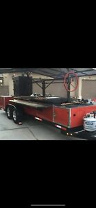 Custom Mobile Bbq Grill Smoker Trailer And More Santa Maria Style
