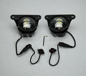 Pair Clear Led Bumper Fog Light For 07 17 Jeep Wrangler Rubicon X 10th Hard Rock