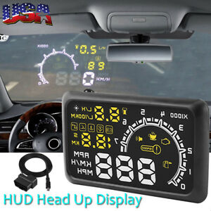 Universal 5 5 Car Obd2 Ii Hud Head Up Display Mph Kmh Speed Warning System