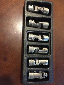 Snap On Tool 6pt Metric Swivel flex wobble Short Socket Set 3 8flank Dr 206fsuma