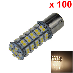 100x Warm White Rv 1156 Daytime Blub Running Lamp 68 1210 Smd Led D020