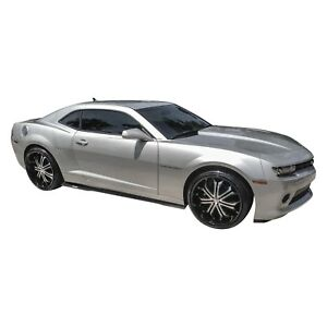 Chevy Camaro 2010 2015 Vicrez Vz3 Style Black Side Skirt Splitters