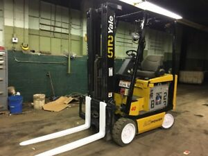 2010 Yale Electric Forklift With Side Shift Triple Mast