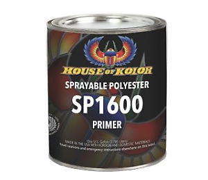 House Of Kolor Sp 1600g Grey Polyester Primer Sprayable Gallon Hok Sp1600 G
