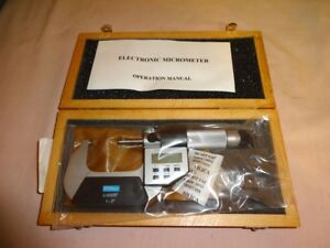 Fowler Electronic Outside Micrometer 1 2 Resolution 0 00005