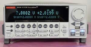 Keithley 2612a System Sourcemeter Smu 200v 10a Pulse 2 Channel