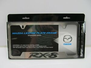 New Oem For Mazda Rx 8 Brushed Stainless Steel License Plate Frame 0000 83 K12