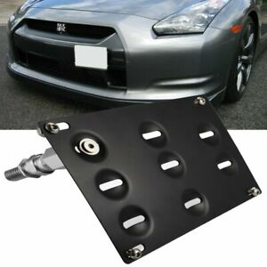 Front Tow Hook License Plate Mounting Bracket Relocator For Nissan Z34 370z Gtr