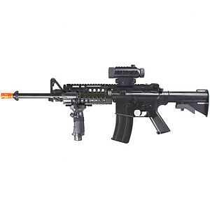 200 FPS FULL AUTO ELECTRIC AEG AIRSOFT RIFLE GUN w SCOPE amp; LASER 6mm BB BBs $76.95