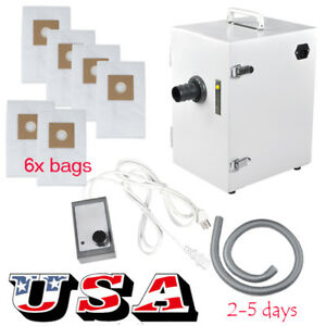 Usa Dental Portable Digital Dust Collector Vacuum Cleaner Machine 6pcs Dust Bag