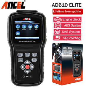Ancel Ad610 Car Engine Sas Abs Srs Airbag Scanner Obd2 Code Diagnostic Scan Tool
