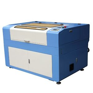 60w Co2 Laser Enagraving Cutting Machine 600 X 900mm Chiller Usb Port Ruida