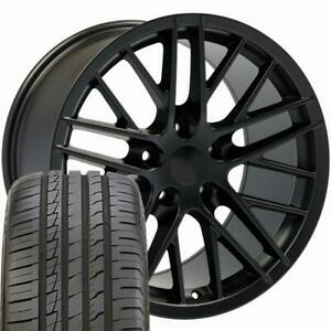 18 Wheel Tire Set Fit Corvette C6 Zr1 Style Satin Black Rims Ironman 5402