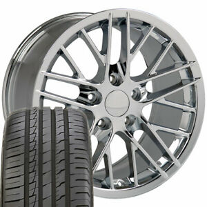 18 Wheel Tire Set Fit Corvette C6 Zr1 Style Chrome Rims Ironman 5402