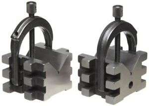 568c 2 V blocks And 2 Clamp matched Pair Complete Set 2 Diameter Round