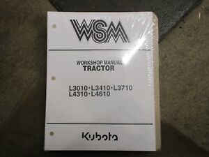 Kubota L3010 L3410 L3710 L4310 L4610 Tractor Service Repair Manual