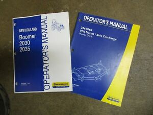 New Holland 2030 2035 Boomer Tractor Mower Owners Maintenance Manual