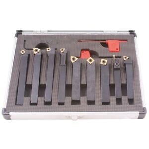 Pro series 9 Piece 1 2 Indexable Cut Off Turning Tool Set 2002 0213