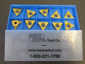 Lot Of 10 Max bar Tcor 4203 C 2t Carbide Indexable Inserts New