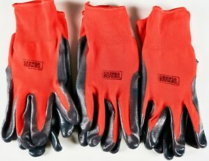 Grease Monkey Nitrile Coated Grip Work Gloves Latex free Lot Of 3 6 Or 15 Pairs