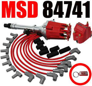 Msd 84741 Gm Chevy Crate Engine Ignition R2r Distributor Blaster Coil Combo Kit