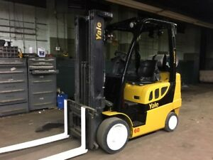 2010 Yale 6000 Lb Forklift With Side Shift And Triple Mast