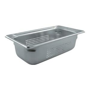 Vollrath 90343 Third Size 4 In Deep Perforated Steam Table Pan