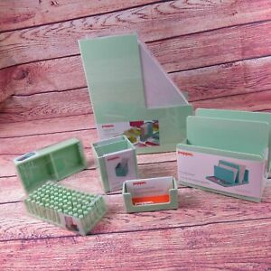 Poppin Mint Green Office Supplies Desk Accessories Set 6 Piece