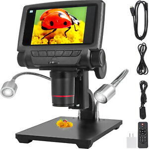 5 260x Hd Usb Digital Microscope 3 0mp 1080p Hdmi tv Soldering Light weight