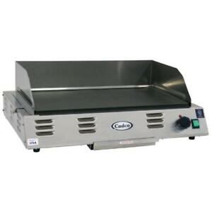 Cadco Cg 10 120v 1500w Electric Countertop Griddle Flat Top Grill