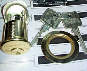 Medeco 10t0400h M3 With 2 Keys High Security Rim Cylinder Lock Bright Brass