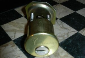 Multlock High Security Rim Cylinder Lock Bright Brass With 2 Keys 2 Rekeys