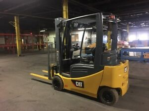 2012 Cat Pneumatic 4000 Pound Forklift With Side Shift Triple Mast Low Hours