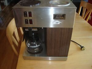 Bunn Vpr Black 12 Cup Pourover Coffee Brewer Maker Machine O matic 2 Warmers