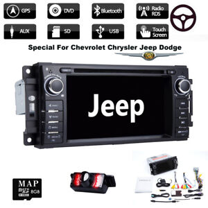Car Dash Dvd Player Gps Stereo Radio For Jeep Grand Cherokee Chrysler Dodge Ram