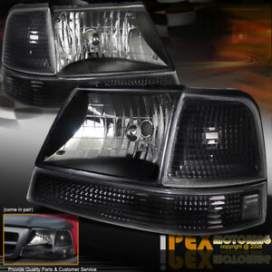 1998 1999 2000 Ford Ranger 6 Pc Black Headlights W Bumper Signal Lights