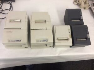 lot Of 5 Epson Pos Thermal Printers Tm h6000iip Tm t88iip Tm t88iv Pos J 4