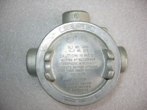 Crouse hinds Eabt 16 Explosion Proof Iron Conduit Outlet Box 1 2 Threaded Nos